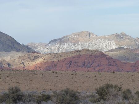 Calico Hills in Nevada by Las Vegas Stock Photo