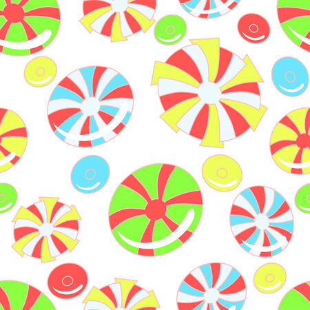 chewing gum: Vector background with abstract candies, white background