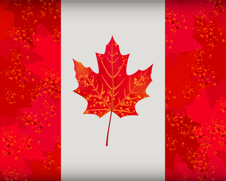 textured effect: Canadian flag with textured effect for your design