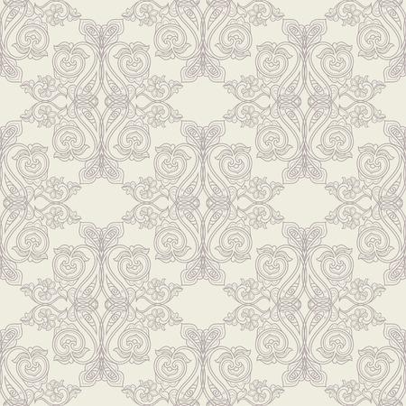 Beige antique baroque vintage seamless pattern or background Vector