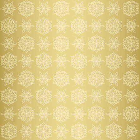 gold  yellow: Christmas seamless pattern background with snowflake, gold yellow