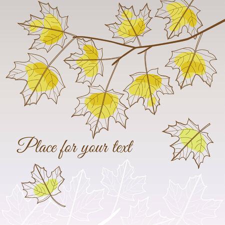 lindeboom: Abstracte transparante linden bladval gele stijl met plaats