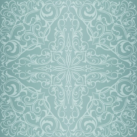Blue antique orient east vintage seamless pattern or background