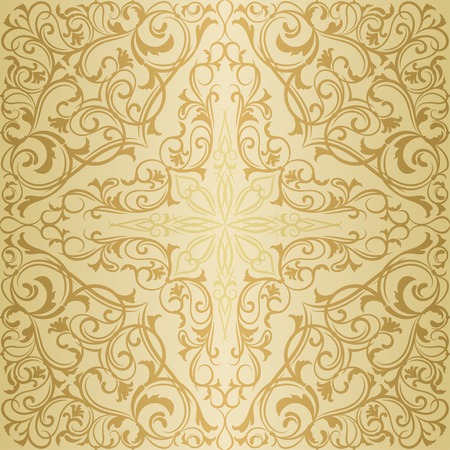 orient: Gold antique orient east vintage seamless pattern or background