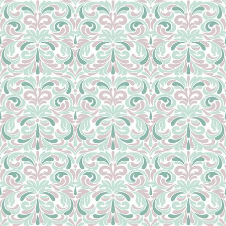 Pastel antique baroque vintage seamless pattern or background