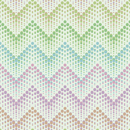 Herringbone geometric zigzag and dotted color seamless pattern or background Vector