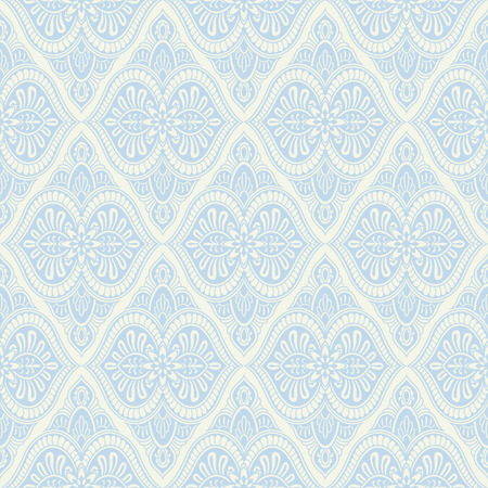 Blue, silver, light baroque vintage seamless striped pattern Illusztráció