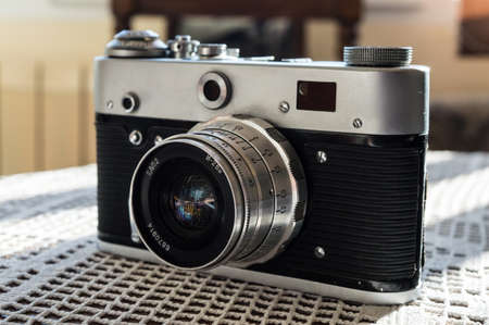 ttl: Vintage old camera Stock Photo