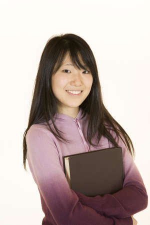 attitude girls: Model Release 363  Portrait of Asian tenn getting ready for school