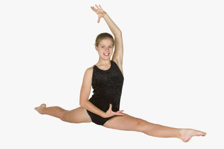 Model Release #281   12 year old caucasian girl in gymnastics poses