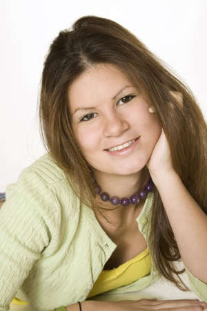 362 Teen Model Release posant sur un fond  Banque d'images - 638814