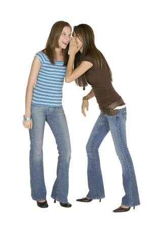 Model Release 315 Two woman telling secrets Stock Photo