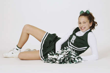 Model Release #261  Preteen girl dressed as cheerleader Stock Photo - 645216