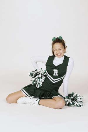 cheerleading: Model Release #261  Preteen girl dressed as cheerleader