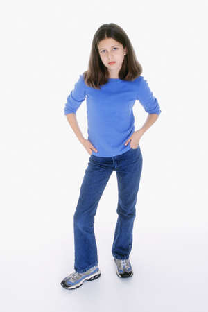 Preteen girl posing with alittle attitude Stock Photo - 652179