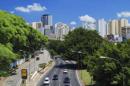 traffic building: Sao Paulo, Brazil Stock Photo