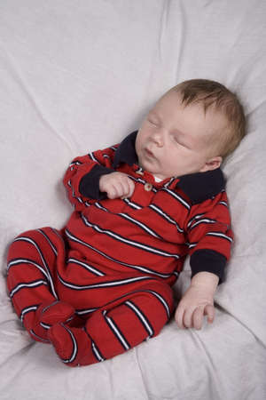 New born baby boy in first photo shoot