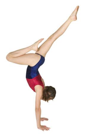 10-jährige Mädchen in kaukasisch Gymnastik Posen  Standard-Bild - 656482