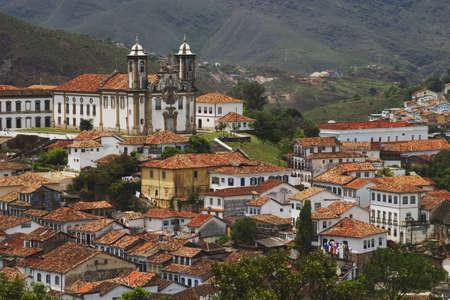 Baroque Church of Nossa Senhora do Carmo in Ouro Preto. Located in the state of Minas Gerais, Brazil