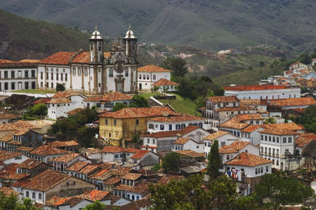 senhora: Baroque Church of Nossa Senhora do Carmo in Ouro Preto. Located in the state of Minas Gerais, Brazil