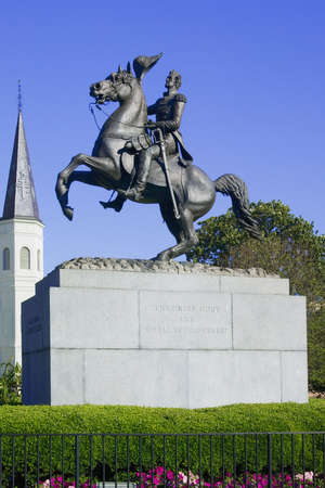 general: General General statue in Jackson Square New Orleans, Louisiana, United States