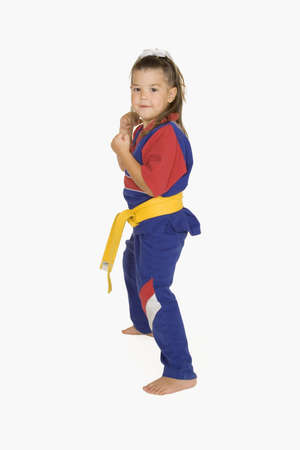 four year old: Four year old practicing Martial Arts