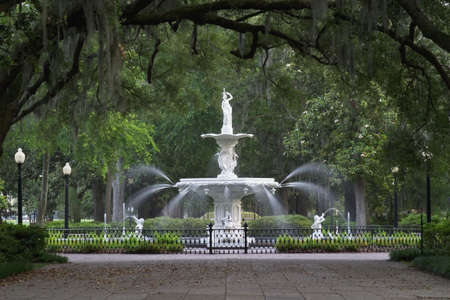 savanna: Forsyth Park Fountain in Savannah Georgia.
