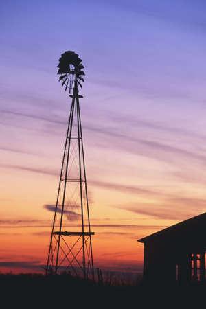 countrysides: Rural Barn at Sunset