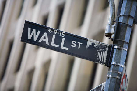 Wall street sign Stock Photo - 672018