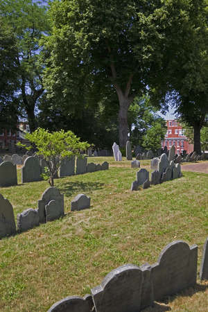 massachussets: Copps Hill Burying Ground has existed since 1659 and is the second oldest cemetery in Boston Massachussets in the United States