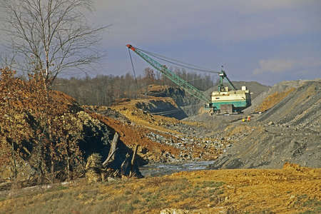Strip Mining for coal in western Kentucky, United States photo