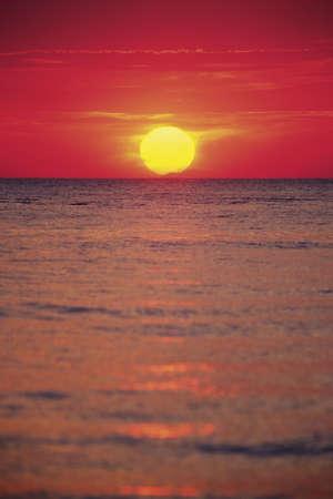 sunrises: Sunset over the ocean, Florida, United States