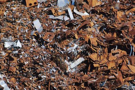 Scrap metal yard in Louisville Kentucky, United States