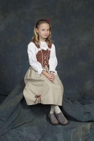 モデル リリース #270 ドイツ子供年齢歳伝統的な服