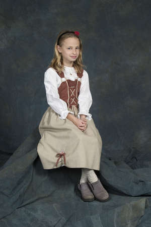 german girl: Model Release #270  German child age years in traditional clothing