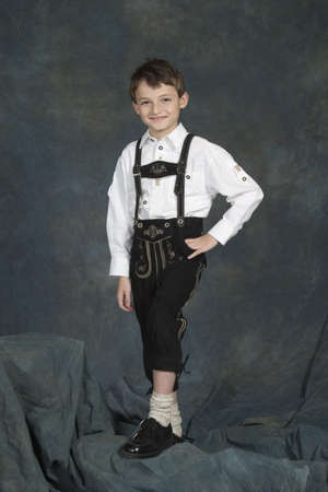 dirndl: Model Release #270  German chrildren ages 8 and 9 years in traditional clothing