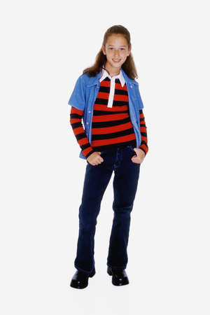 MR#261  Preteen girl posing with alittle attitude Stock Photo - 734536