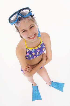 Modlel Release #240  Preteen girl posing in swimsuit Stock Photo - 735939