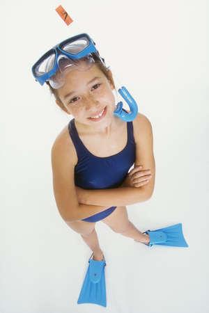 Modlel Release #257  Preteen girl posing in swimsuit