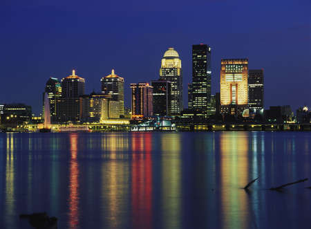 kentucky: Louisville Kentucky skyline Stock Photo