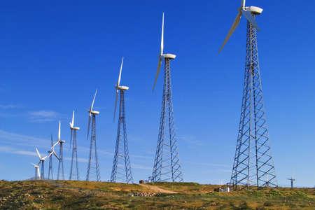 Windmill electricity farm near Palm Springs, CA; a source of alternative energy.