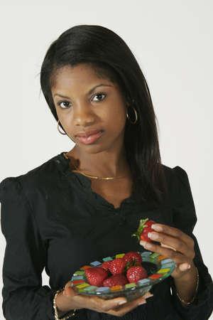 early 20s: Modelo Release # 278 African American Mujer a principios de la sana 20