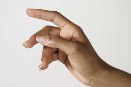 hand gestures: Model Release #278 African American woman using hand gestures Stock Photo