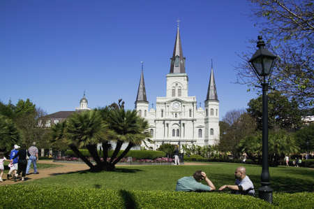jackson: St. Louis Cathedral in Jackson Square New Orleans, Louisiana, United States