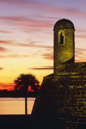 marcos: Sunrise at Castillo de San Marcos National Monument St Augustine Florida United States