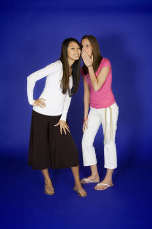 Model Release 315 Two woman acting silly telling secerts photo