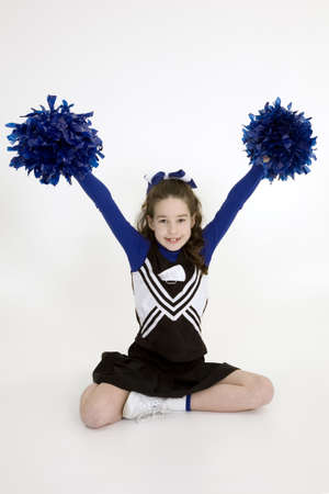 Model Release 378  Nine year old girl dressed as cheerleader Stock Photo - 780641