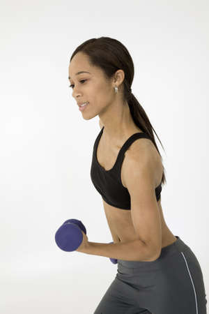 Model Release 379  Young African American woman working out Stock Photo - 780647