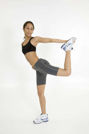 Model Release 379  Young African American woman working out Stock Photo - 780653