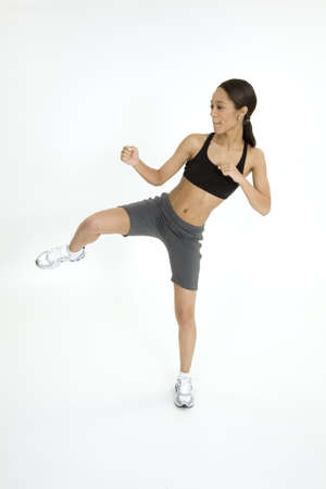 Model Release 379  Young African American woman working out Stock Photo - 780656